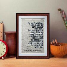 Trainspotting Welsh Citation Dictionary page Art Imprimé Cadeau littéraire Cadeau Humour