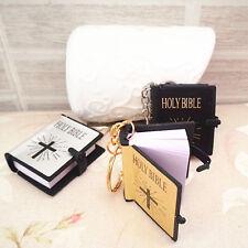 3x Mini Bible Keychain English HOLY BIBLE Religious Christian Jesus Keyring Gift