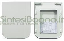 Toilet Seat Flaminia WC TERRA series. Original type. Thermosetting. FLATRCW02BI