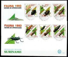 Suriname - 1993 Insects / Beetles & grasshoppers -  Mi. 1438-49 clean FDC's