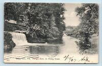Chester, PA - RARE c1907 IRVINGS DAM ON RIDLEY CREEK POSTCARD - DELAWARE COUNTY