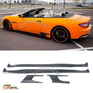For Maserati GranTurismo GT Coupe 08-19 Real Carbon Fiber Door Side Skirt Trim