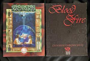 Vampire the Masquerade Lot - Giovanni Chronicles II Blood & Fire - Halls Arcanum