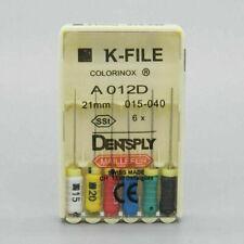 Dentsply Dental Endo 25mm Stainless Steel K File 6 File Per Blister All Sizes