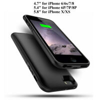 External Battery Case Rechargeable Charging Power Cover For iPhone 6 7 8 Plus X