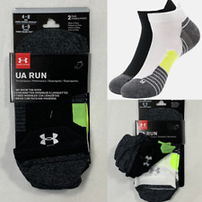 Under Armour Run No Show Tab Sock 2 PAIR Running Socks Men's 4-8 Women's 6-9
