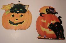 Vintage Hallmark and Eureka 1980s Halloween cardboard wall hangings