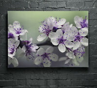 Canvas Glass Picture Wall Art Print Large ANY SIZE Spring Tree Flowers p132474
