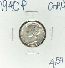 1940-P MERCURY SILVER DIME ~ CH/AU ~NICE COIN~
