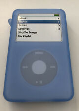 Apple iPod Classic 30 40 60 GB Silicone Case Cover in Blue with Strap NEW