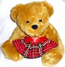 MUM /MOTHER 'BAKE OFF' TARTAN APRON BEAR.REMOVABLE WHEAT MICRO HEAT PACK.FREEp&p