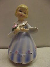Schmid Girl In Dress Carrying Flower Bouquet Rotating Music Box Lara'S Theme