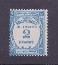 """FRANCE TAXE 61 """"2 F BLEU"""" NEUF xx TTB,VALEUR: 260€"""