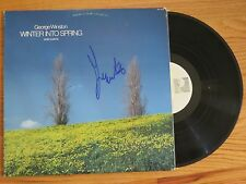 GEORGE WINSTON signed WINTER INTO SPRING Piano Solos 1982 Record COA