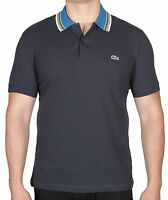 Lacoste Men's Short Sleeve Petit Pique Polo Shirt Regular Fit PH2074-51 HXH Blue