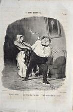 Brigand de tailleur :Lithographie de Daumier: série Les Bons Bourgeois (P 47)