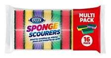 More details for 64 multicoloured sponge scourers washing up scrubber dish cleaning pads abrasive
