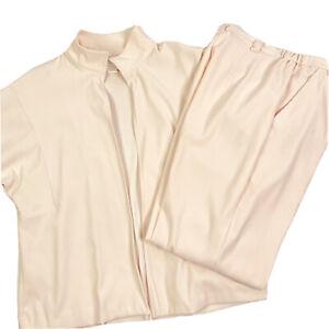 Coldwater Creek Pink Pants Suit Petite Medium Casual Open Front