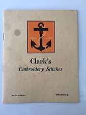 Vintage 1960s? Booklet - Clark's Embroidery Stitches - 16 pages