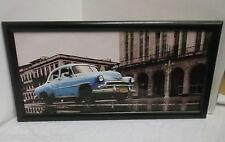 Cuba Voiture Ancienne Image de Toile avec Cadres Pression Nostalgie Vintage