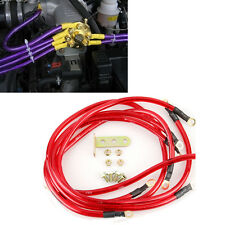 5 Point Grounding Ground Wire Performance Cable System Kit Red Car Universal
