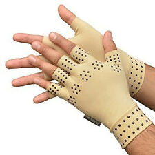 Magnetic Anti Arthritis Healthy Compression Therapy Fingerless Gloves US Stock