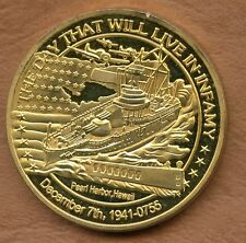 COINS / PEARL HARBOR HAWAII / THE DAY THAT WILL LIVE IN INFAMY