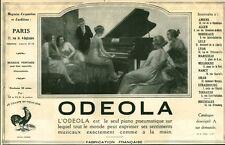 Publicité ancienne piano Odeola  issue de magazine 1924