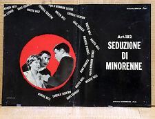 ART. 182 SEDUZIONE DI MINORENNE fotobusta poster affiche Hermann Leitngr AE9