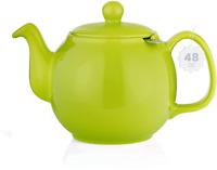 SAKI Large Porcelain Teapot, 48 Ounce Tea Pot with Infuser, Loose Leaf and Bloom