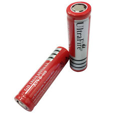 2X 18650 Flat Top 3.7V 6800mAh Li-ion Rechargeable Battery for Torch Head light