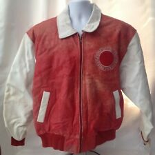 UNLV Leather Bomber Jacket Red/White Size L Original Tags 1993-1994 Phase2 Brand