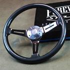 15 Grey Chrome Steering Wheel 3 Spoke