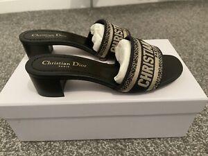 Dior Dway Oblique Mules Blue 39