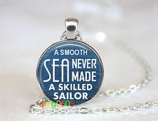 Navy sailor photo Glass Cabochon Tibet silver Chain Pendant Necklace wholesale