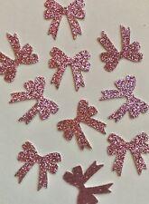 Pink Glitter Bow Confetti (3/4 Inch)
