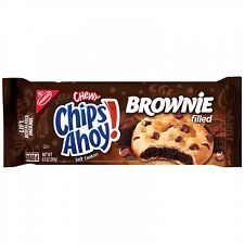 NEW SEALED NABISCO CHEWY CHIPS AHOY BROWNIE FILLED COOKIES 9.5 OZ