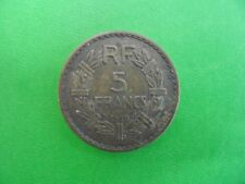 PIECE MONNAIE ANCIENNE FRANCE 5 FRANCS LAVRILLIER 1939 BRONZE ALUMINIUM TTB