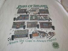 VINTAGE pubs OF IRELAND TEE SHIRT SCREEN STARS TAG beer shirt large