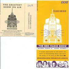 BBC RADIO SHOW 1992 The Greatest Show On Air Portland Place brochure & ticket