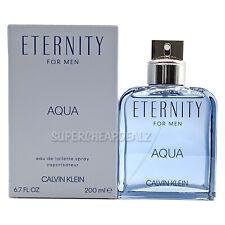 Eternity Aqua by Calvin Klein for men 6.7 oz Eau de Toilette Spray NIB AUTHENTIC