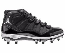 NWB MEN'S AIR JORDAN RETRO 11 XI TD FOOTBALL CLEAT BLACK/WHITE Sz 11.5