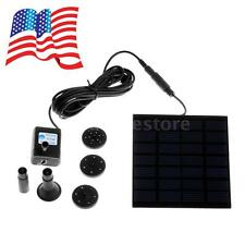 Solar Power Panel Brushless DC Water Pump With 3 Water Outlet Caps Garden W1J7