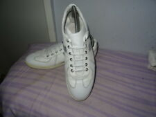 MENS DIOR HOMME WHITE LEATHER LACE-UP SHOES SIZE UK 8 /EU42 GREAT CONDITION