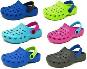 Kids Summer Clogs Children's Girls Boys Holiday Garden Sandals Shoes Size 4-2