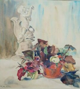 Richard Albitz, 1876 Berlin - 1954 ebenda  Aquarell/Papier. Blumenstillleben