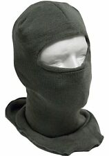 EXTENDED COLD WEATHER MILITARY SKI MASK HOOD BALACLAVA FOLIAGE GREEN WOOL BLEND