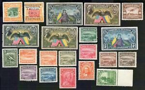 Ecuador 1934-40 group of 40 stamps GS#  MNG/MH/MNH/used