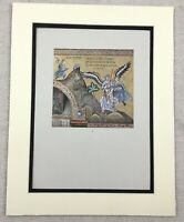 1929 Antique Print Palermo Italian Byzantine Mosaic Jacob Wrestling the Angel