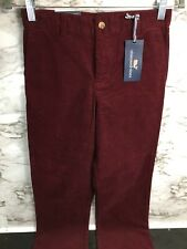 Vineyard Vines Boys Breaker Pant Corduroy Pants Crimson Color Size 12 - G